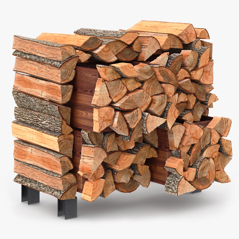 3d model facecord stack firewood