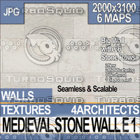Medieval Stone Wall E 1