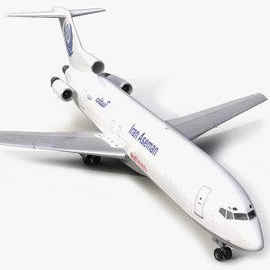 boeing 727-200f iran aseman 3d 3ds
