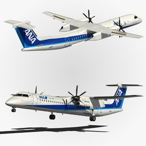 3d model bombardier dash 8 q400