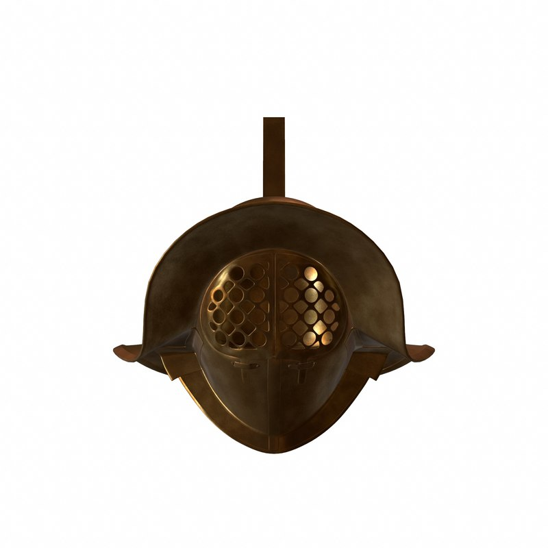 3d model roman gladiator helmet
