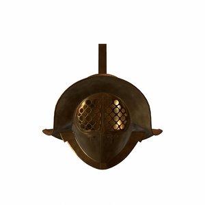 roman gladiator helmet 3d max