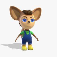 3d cartoon character liu