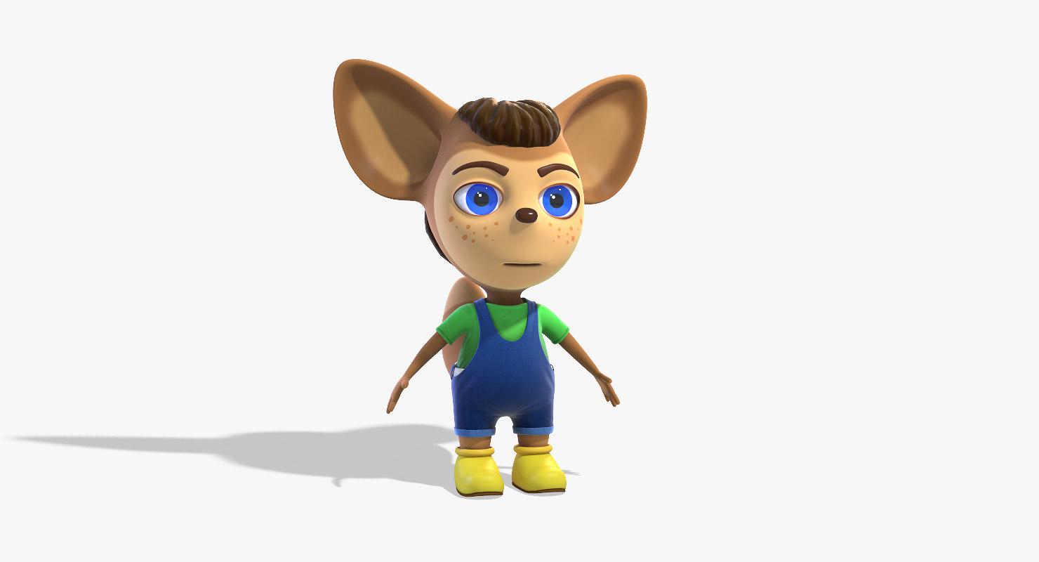 3d cartoon character liu