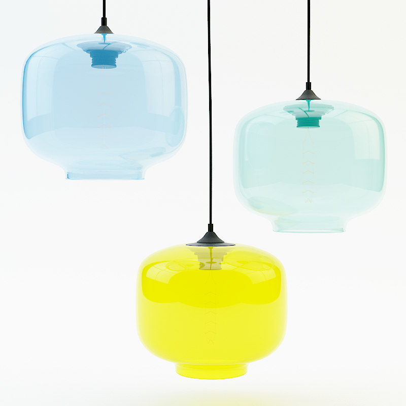 3d model oculo glass lamp