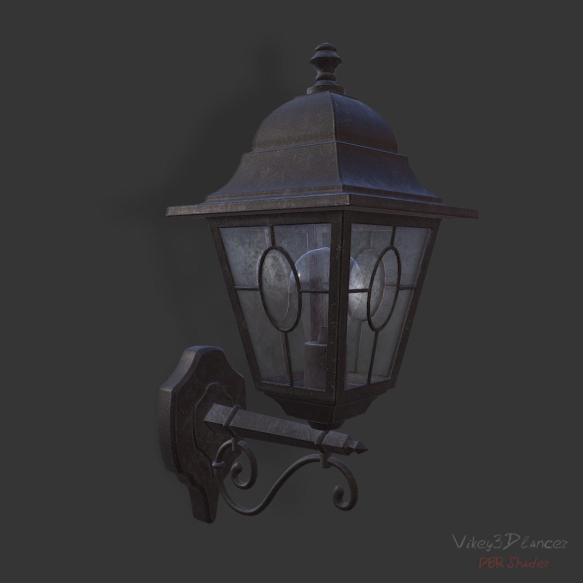 old wall lantern 3d model