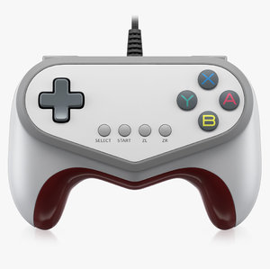 3d model of hori pokken tournament pro