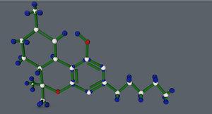 c4d thc molecule