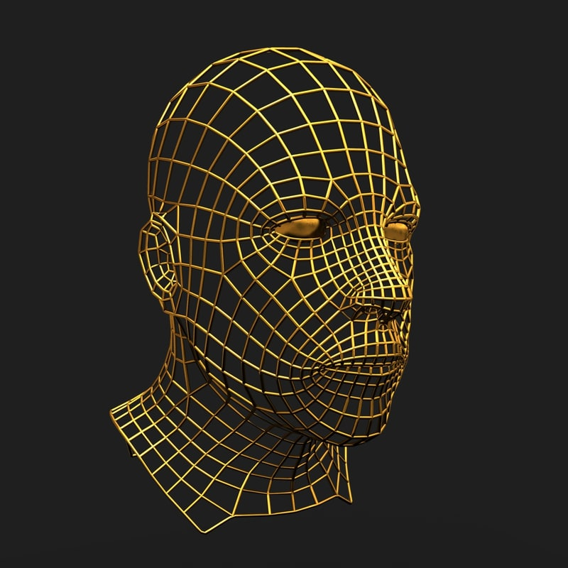 ma wireframe face wire