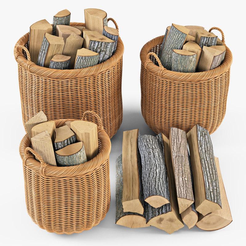 wicker basket firewood oat max