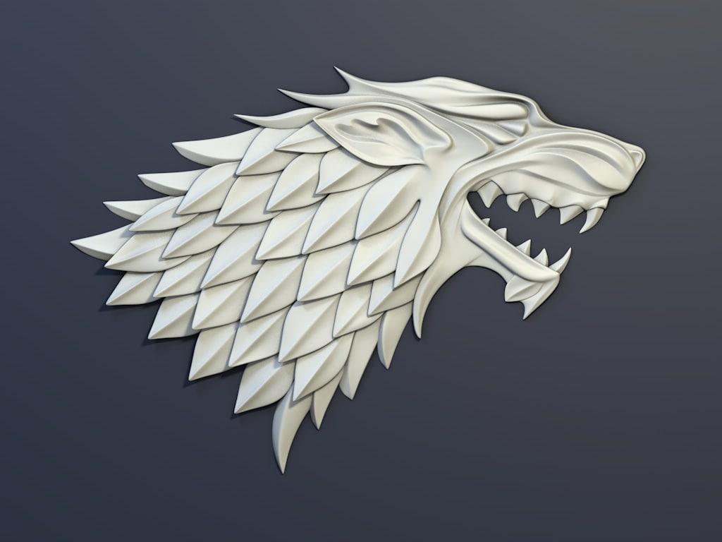 thrones house stark heraldry max