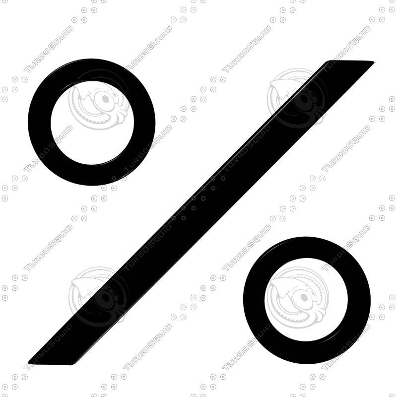 3d model percent sign
