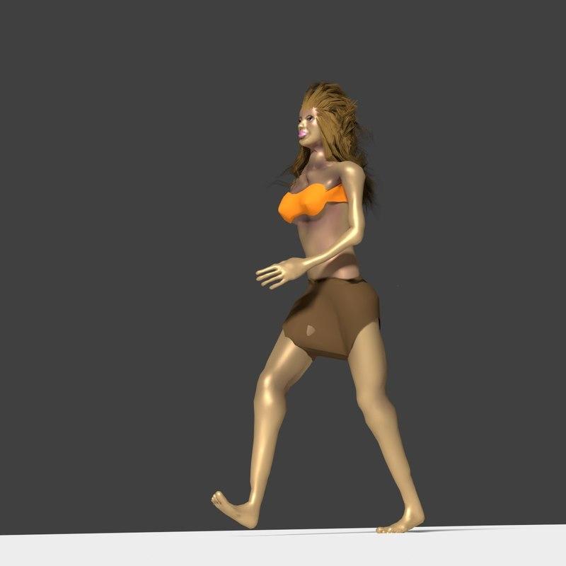 girl woman 3d blend