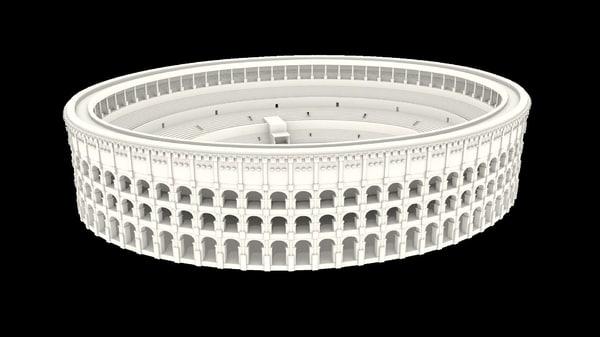 rome colosseum obj