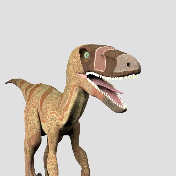 velociraptor raptor obj