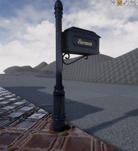 3d model fancy mail box mailbox