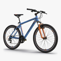 mountain bike blue 3d c4d
