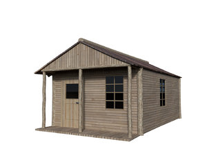 3d wooden house cabin model