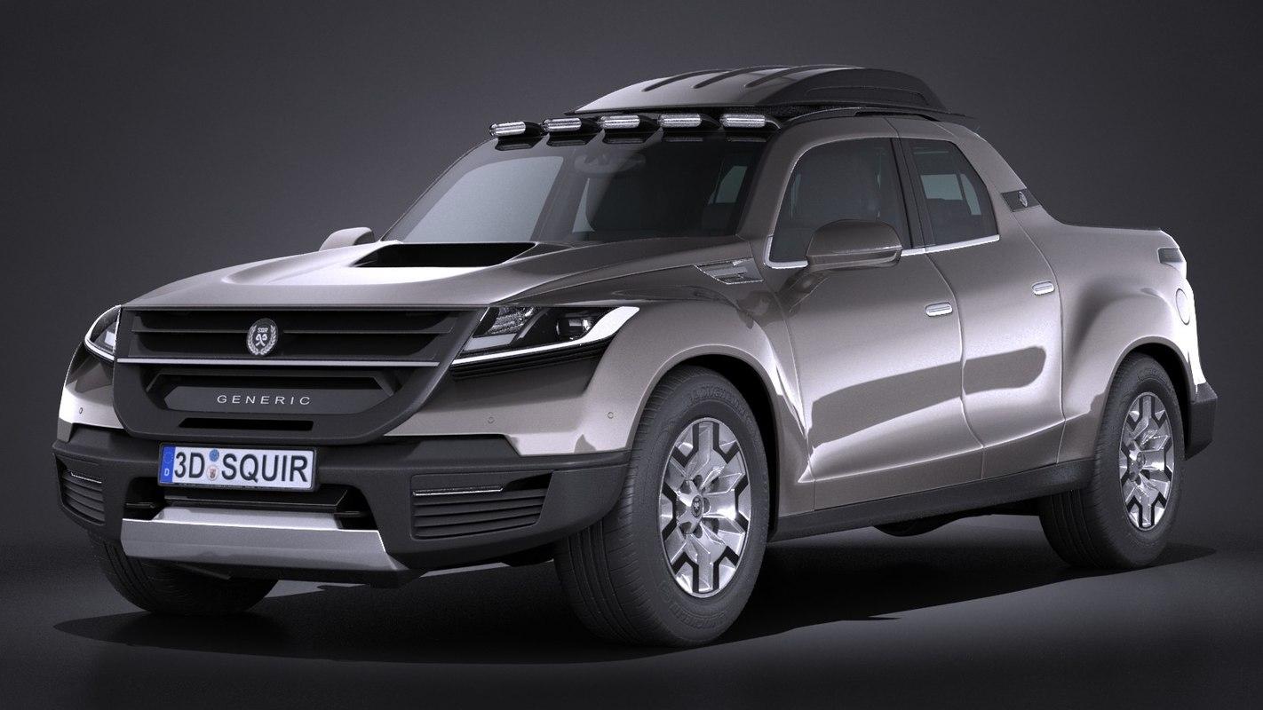 generic pickup 2016 3d model