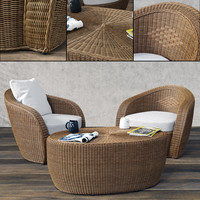 3d varaschin bolero lounge chair model