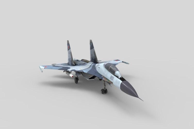 su 30fighterplan 3d obj