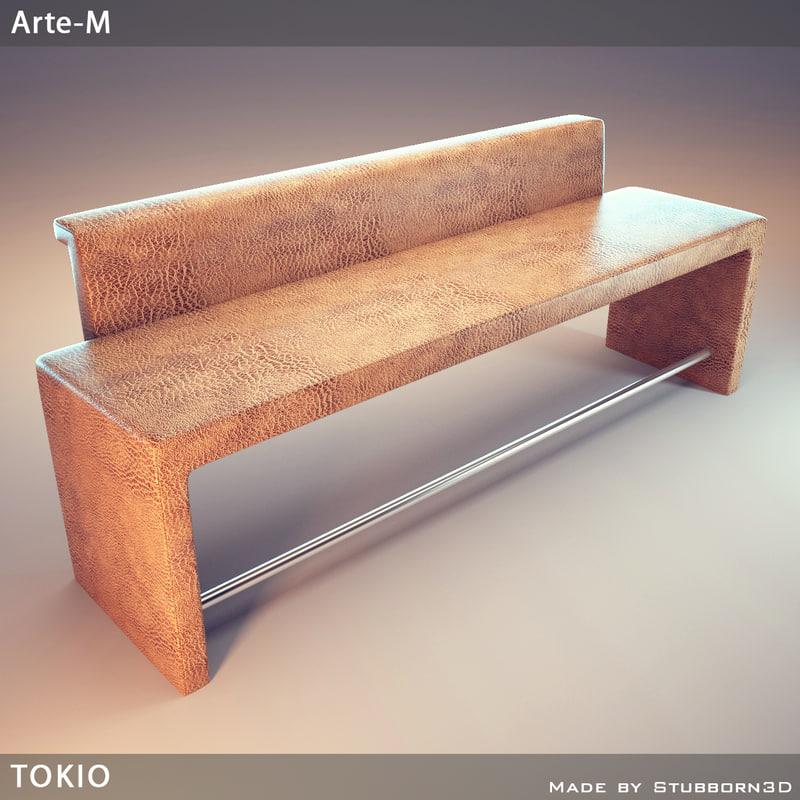 banquette tokio bench 3d model