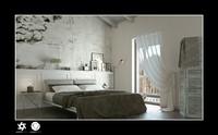 c4d scene interior bedroom bed
