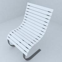 3d model seat living room