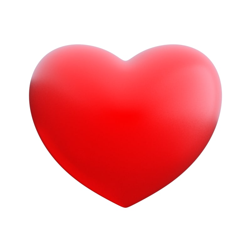 obj love heart