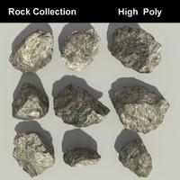 3d model rocks colors