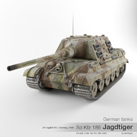 3d model sd kfz 186 tiger