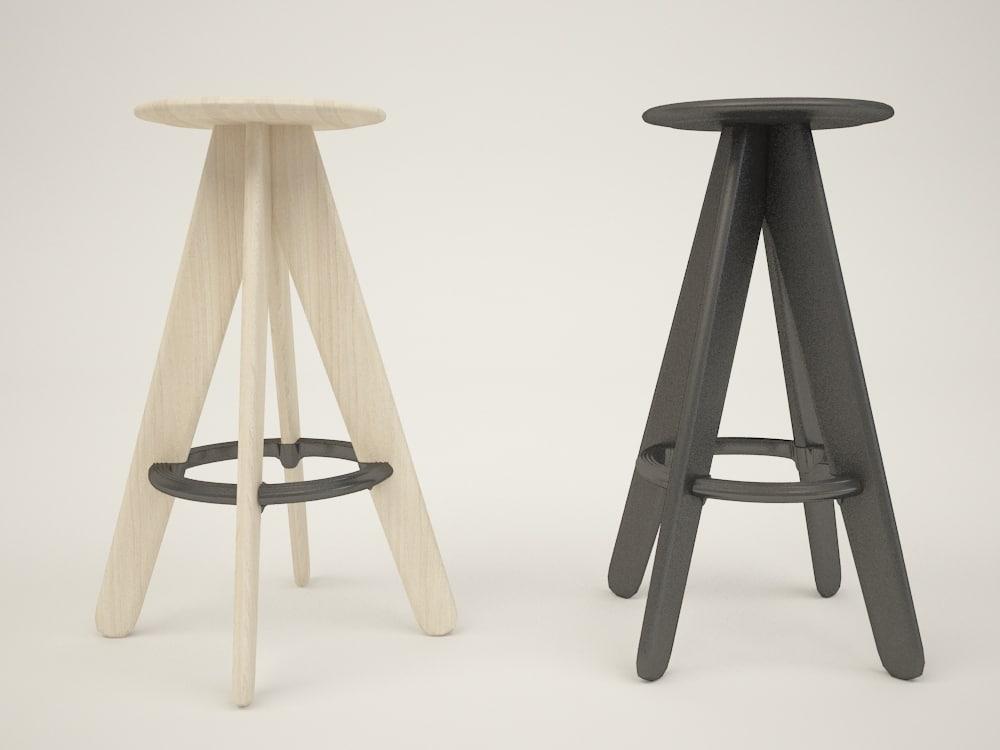 3d stool slab
