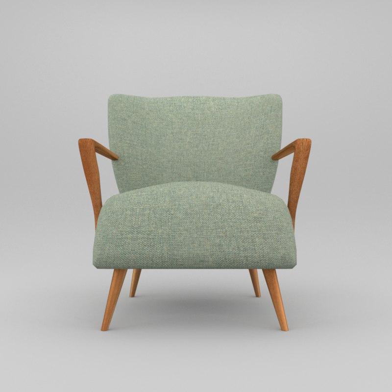 3d old style armchair