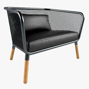 stefan armchairs honken 3d max