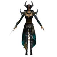 3d black shaman