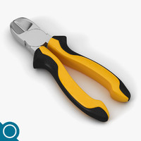 3d model cutting pliers