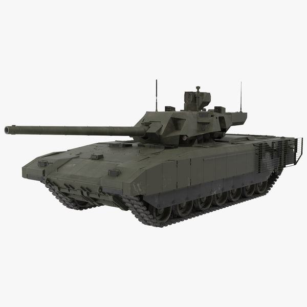 t-14 armata green dirt 3d model