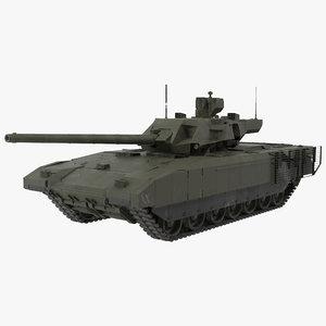 t-14 armata green dirt 3d model