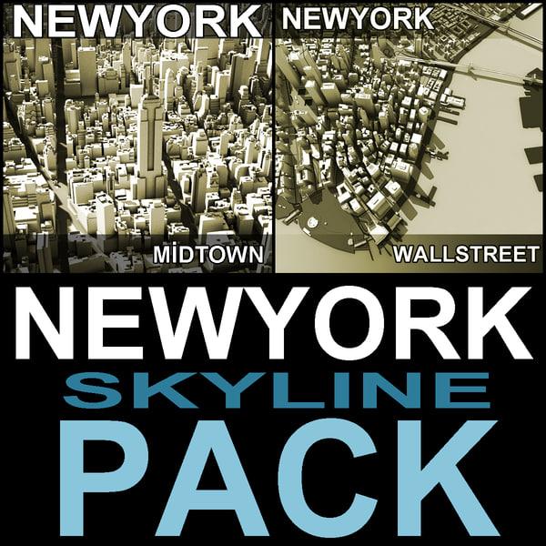 3d model new york