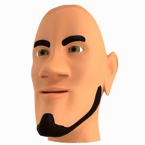 3d cartoon character faces model
