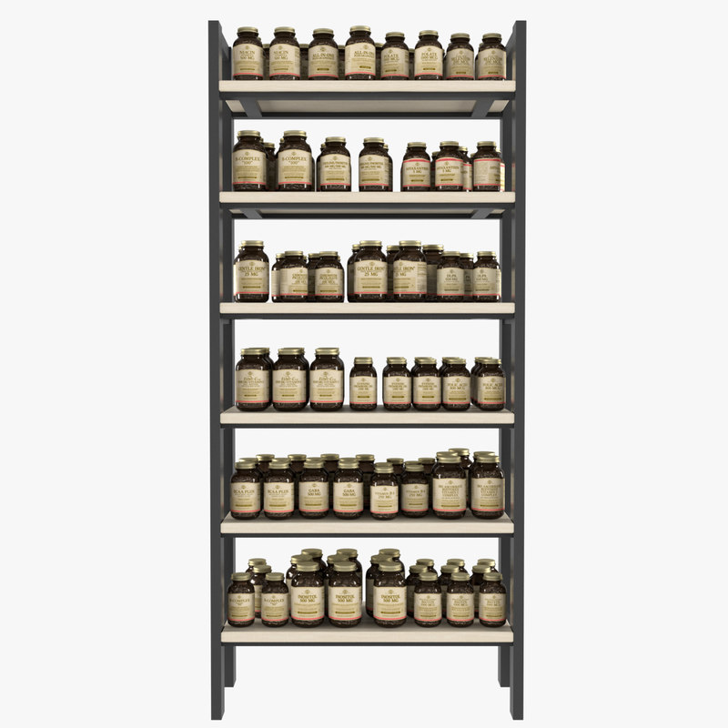 supplement bottle 3d model