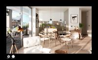 3d render scene modern living model
