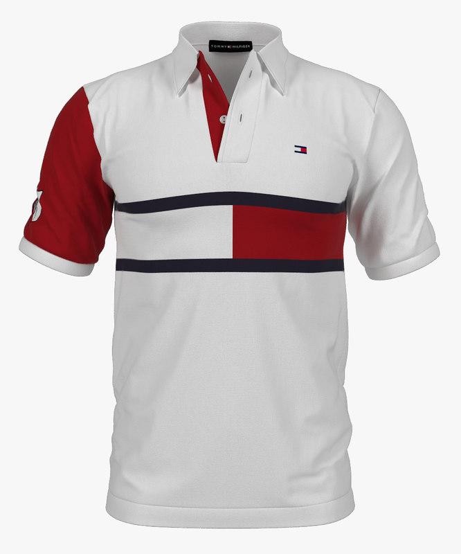 polo shirt tommy hilfiger 3d model