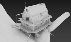 tale house tree 3d 3ds