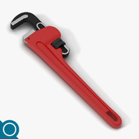 3d model pliers pipe wrench