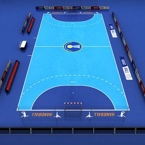 handball court 3d max