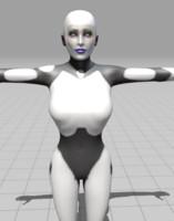 robot women 3d model