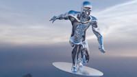 silver man surf 3d model