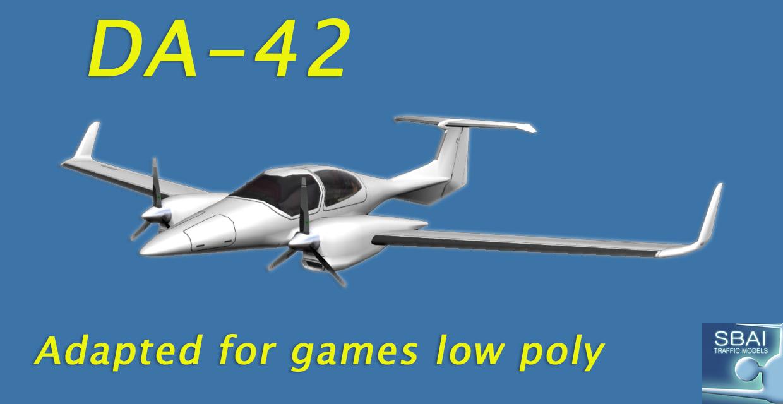 aircraft da-42 3d model