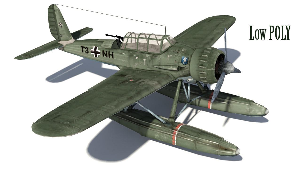 german arado plane 3d model